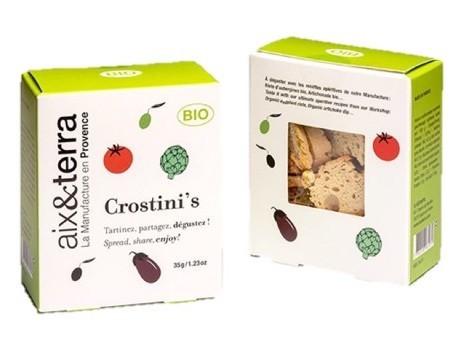 Biscuits apéritif Crostini's BIO