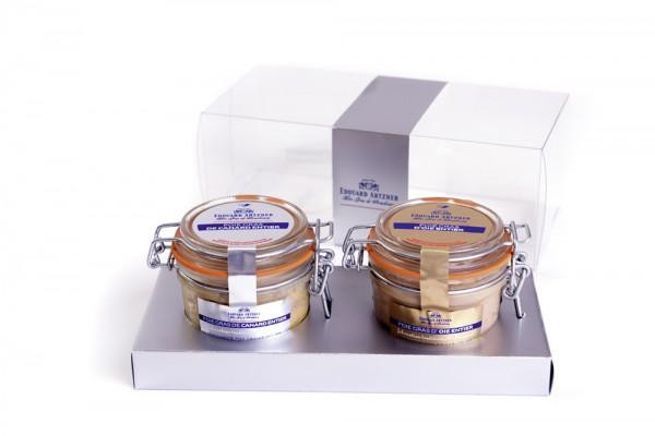 """Duo de foie gras d'oie et de canard """"nature"""""""