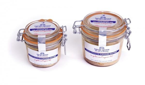 Foie gras de canard entier en gelée au Cognac XO